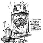 My Brain as coffee warmer