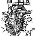 Cartoon for a heart medicine