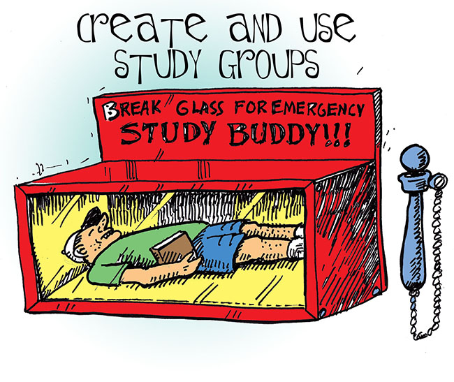 "Cartoon done for a book called ""The Secrets to College Success"""